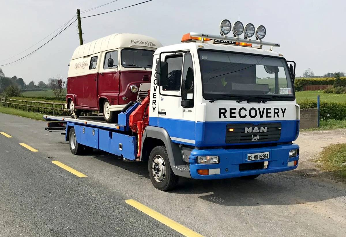 CC Recovery towing a camper van in County Meath